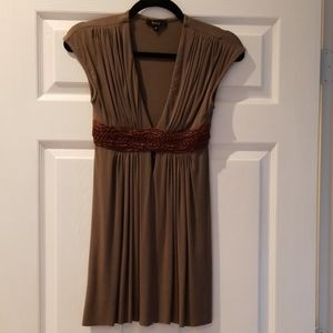 Babydoll top with leather waist